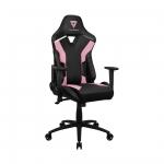 Игровое компьютерное кресло, ThunderX3, TC3 Sakura Black, Искусственная кожа PU AIR, (Ш)65(Г)70(В)122(132) см, Чёрно-розовый