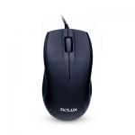 Компьютерная мышь, Delux, DLM-375OUB, Оптическая, 800dpi, USB, Длина кабеля 1.6 метра, Размер:109.660.537.5 мм., Чёрный