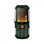 Мобильный телефон BQ-2430 Tank Power Зелёный+Серебро /
