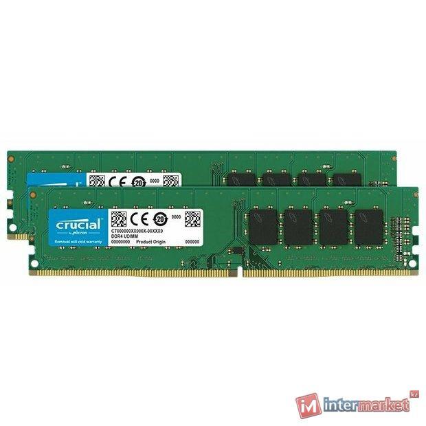 Оперативная память 32GB KIT (2x16Gb) DDR4 2666 MHz Crucial PC4-21300 CL19 1.2V CT2K16G4DFD8266